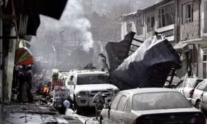 Kabul Ambulance bomb shows the destruction and devastation of the attack