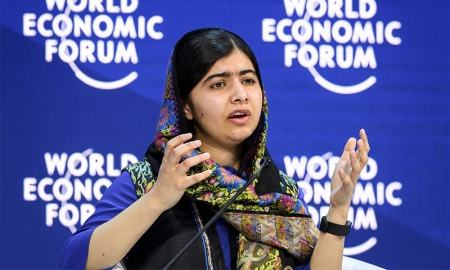 "The Pakistani born Nobel peace laureate Malala Yousafzai on Thursday urged women to ""change the world"""