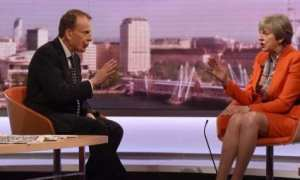BBC presenter Andrew Marr interviewing Theresa May on Sunday.