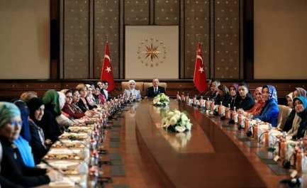 The Convoy of Conscience meeting with the Turkish President Erdogan