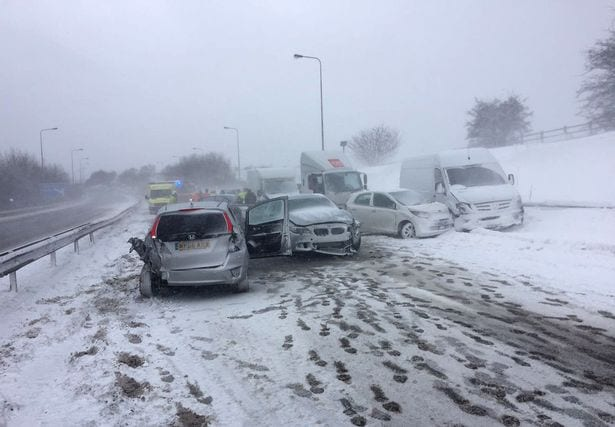 Storm Emma dubbed the Beast from the East is causing mayhem on the roads