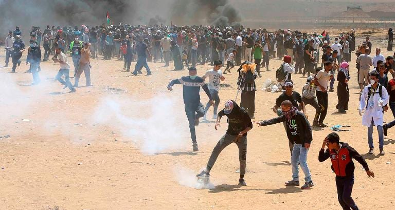 60 dead! Demonstrators say they want to highlight their right to return to homes lost by their ancestors during the war that accompanied the founding of the state of Israel in 1948.