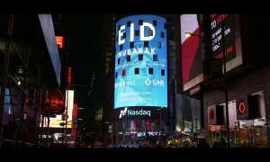 Eid Mubarak in Time square by WahedInvest.com