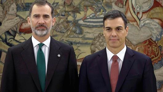 Spain's New  Prime Minister sworn in after ousting Mariano Rajoy