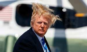 President Donald Trump Leaves G7 Summit in Canada a mess, just like his hair