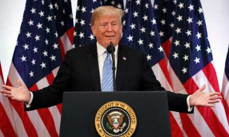 President Donald Trump speaks during a press conference on Sept. 26, 2018