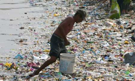 The global community, led by fast-growing countries like China, dumps about nine million metric tons of plastic into the ocean each year,