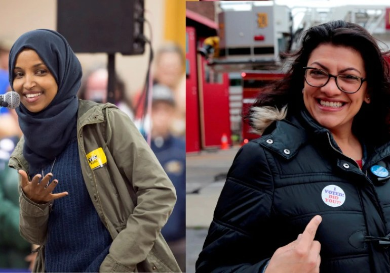 Two Muslim women Elected to US Congress - from Trumps MuslimBan Countries
