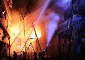 Dozens trapped in Building fire- 72 dead in Bangladesh