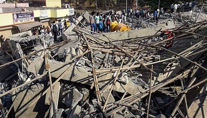 Two dead as India building collapsed - 150 trapped!