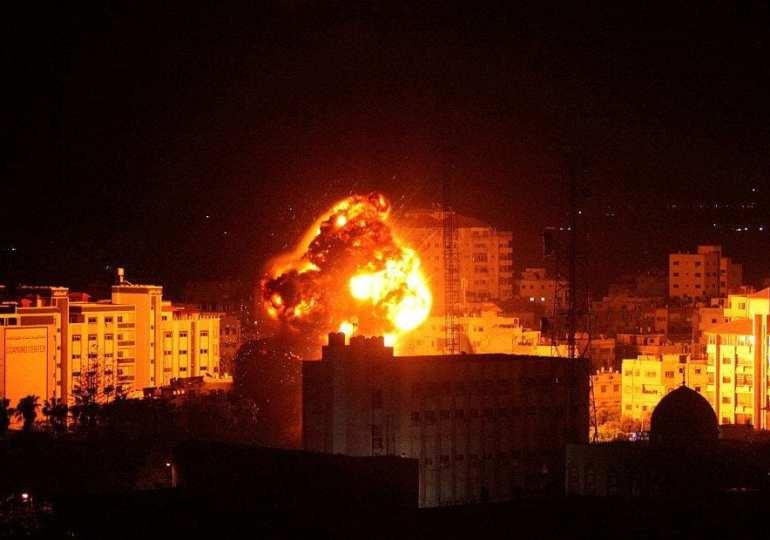 Israelis blitz targets across Gaza after a rocket attack