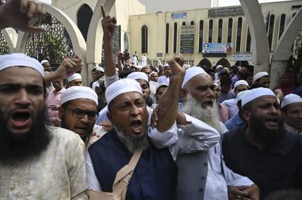 Muslims prtoesting Bangladesh