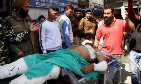 At least one person was killed and 17 injured on Thursday when a grenade exploded at a bus stop in the city of Jammu in Indian-occupied Kashmir