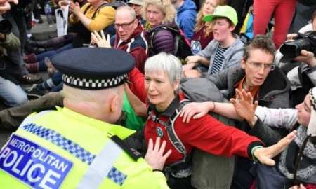More than 250 arrested in London over climate change protests