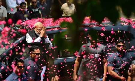 Voting ended Sunday in India´s most acrimonious election in decades