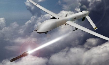 a US drone attacking remote places in Afghanistan