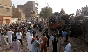 Train collision in Baluchistan, Pakistan killing at least three with injured in hospital