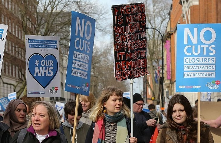 Trump tries to muscle in on the NHS