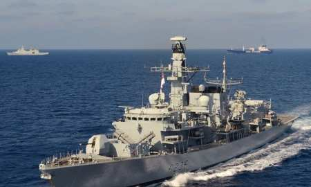 HMS Montrose foils a Iranian plot in the Persian Gulf to seize a British Oil tanker