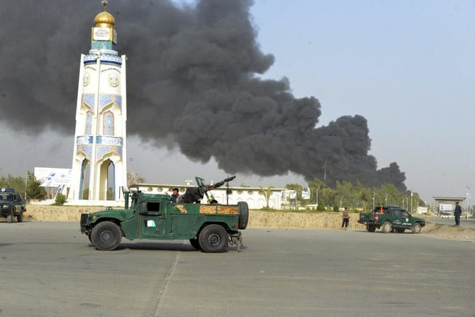 tailban attacks police HQ in Afghan