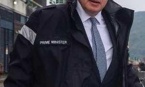 Londoners Eye - Percy Blackney takes aim at Boris Johnson wearing his Prime Minister Jacket