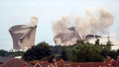 Didcot power station demolition leads to a major power cut