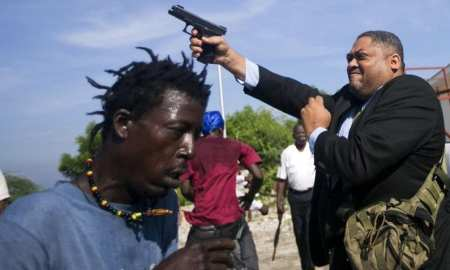 Photojournalist shot outside Haitian senate