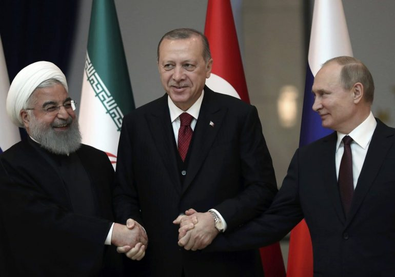 Iran meets Russia and Turkey following US accusations