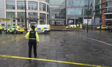 News from Manchester where 5 people have been stabbed at the Arndale shopping centre.
