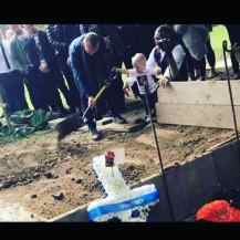 Image of toddler placing earth on dad's grave released in a bid to cut knife crime