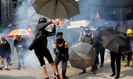 Hong Kong enters recession as protests show no sign of relenting