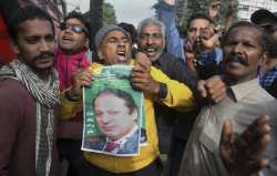Nawaz Sharif supporters rejoice at the news that the former PM is able to travel to seek urgent medical care.