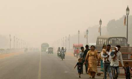 Flights diverted as New Dehli pollution chokes on heavy pollution