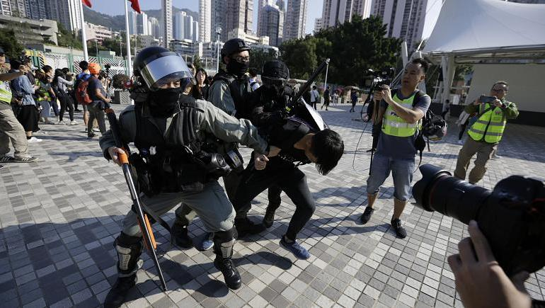Chaos in Hong Kong - Police Shoot Protester in Violent Clash