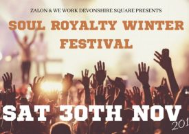 'An immersive, electrifying ride' … International Soul star Zalon and this year's Soul Royalty Winter Festival