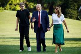 Barron Trump dragged into politics