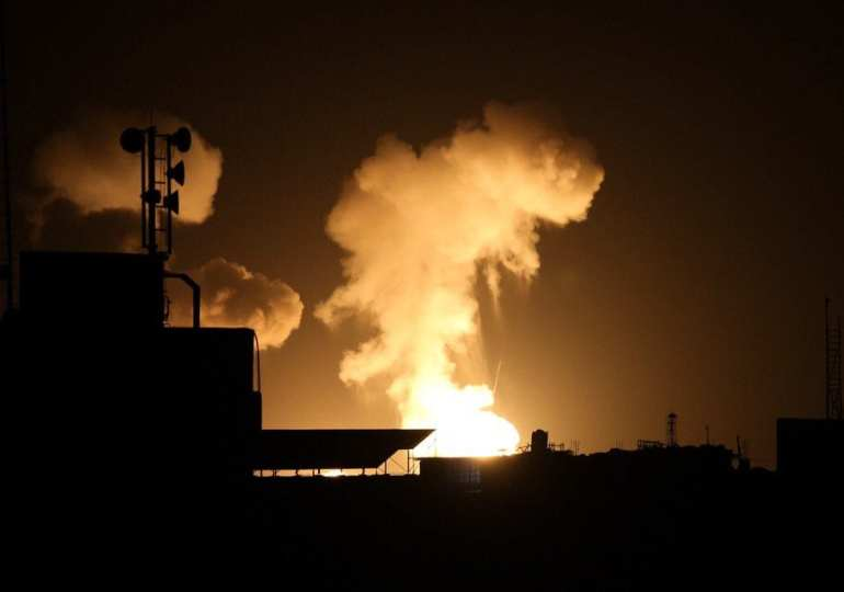israel carrys out strikes on gaza and syria