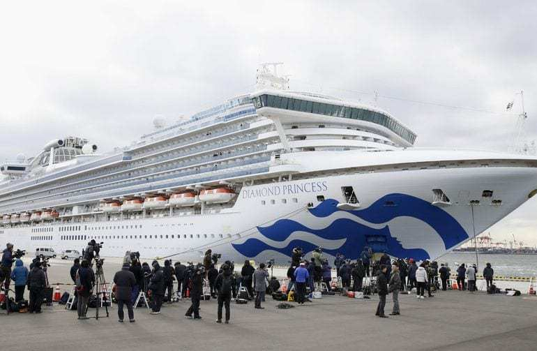 more confired cases of virus on japan ship