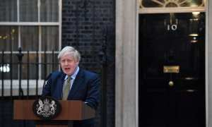 PM Boris Johnson addressing the nation at 1715 following the announcement that all schools will close until further notice