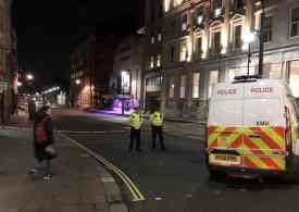 Knifeman shot dead by police in central London
