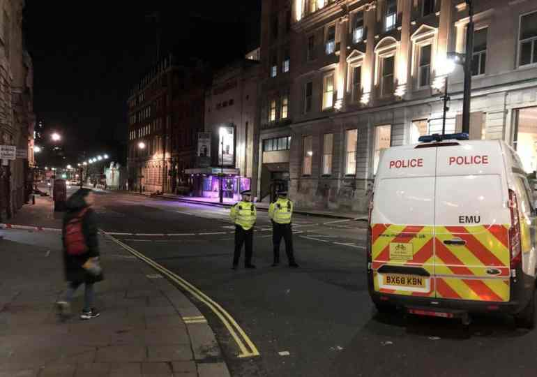Knifeman shot dead by police in central London