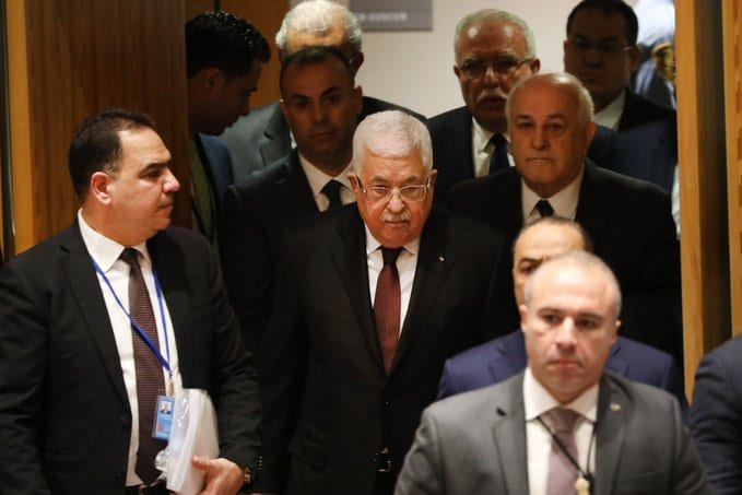 Palestinian president declares end to all agreements with Israel and US