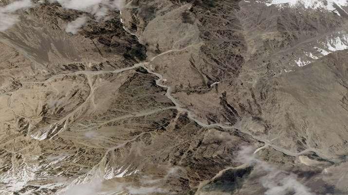 Galwan river valley in Ladakh
