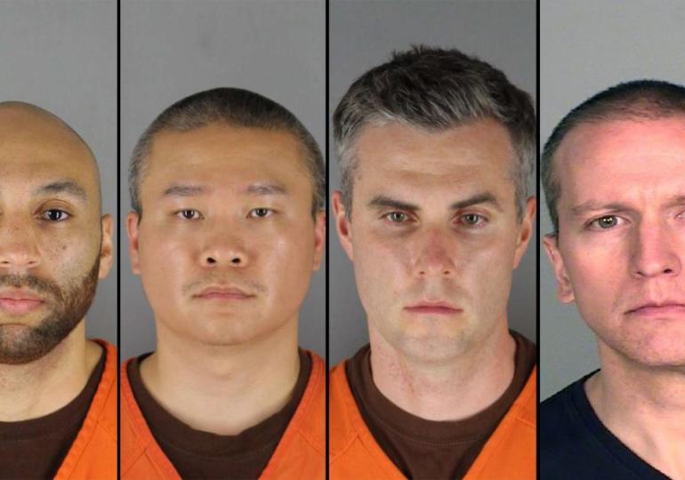 George Floyd: All four officers held on $1m bail each, their charges explained