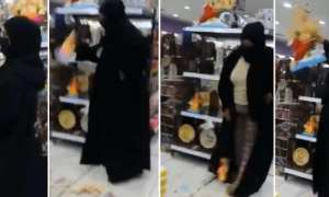 Bahrain- Woman,54, wearing burqa goes viral for smashing Hindu gods, now charged