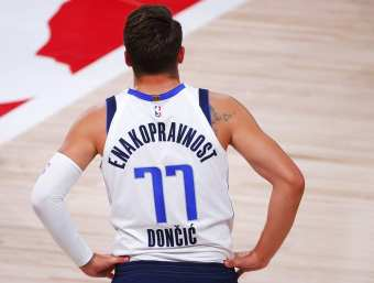 Doncic sets NBA playoff record in losing effort