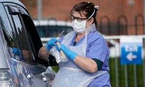 NHS staff 'off work due to testing shortages'