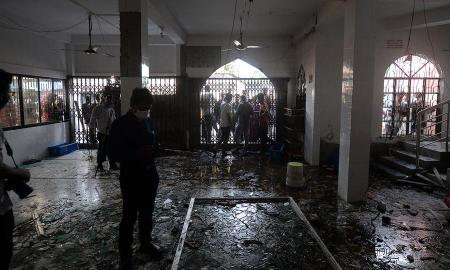 The explosion, which fire service officials suspect was caused by leakage from a pipeline, occurred on Friday night at a mosque in Narayanganj district just outside the capital, Dhaka.