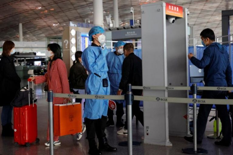 China bars arrivals from France over virus fears