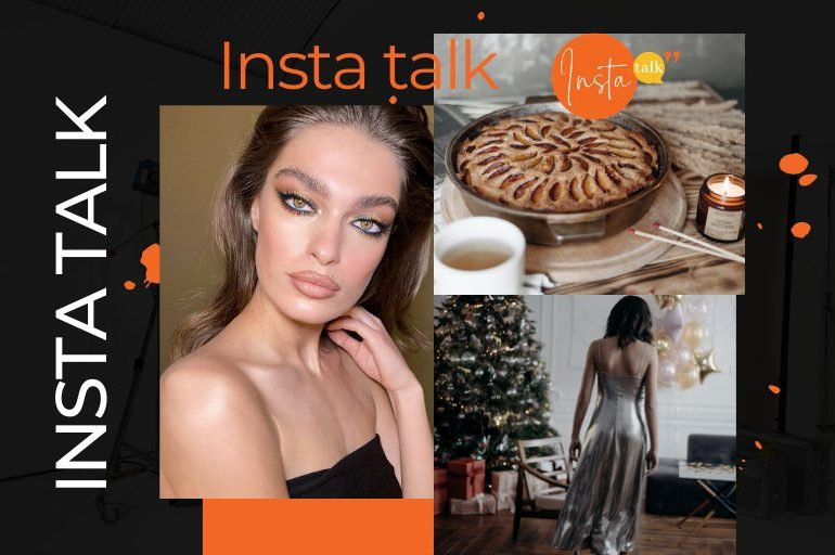 Insta Talk e15: LIVE - Green eyeshadow - Christmas fashion & healthy holiday pecan pie